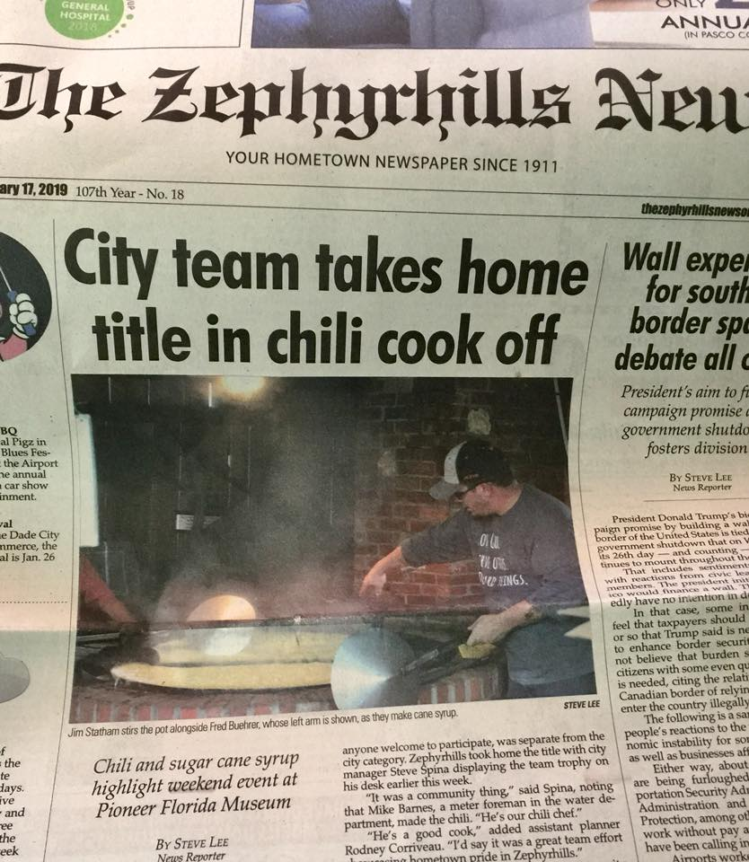 chili cook off zh news